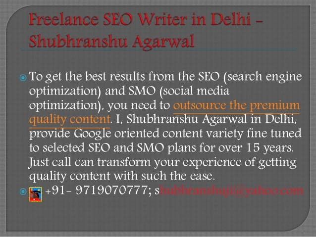 shubhranshu agarwal offers lance writing services