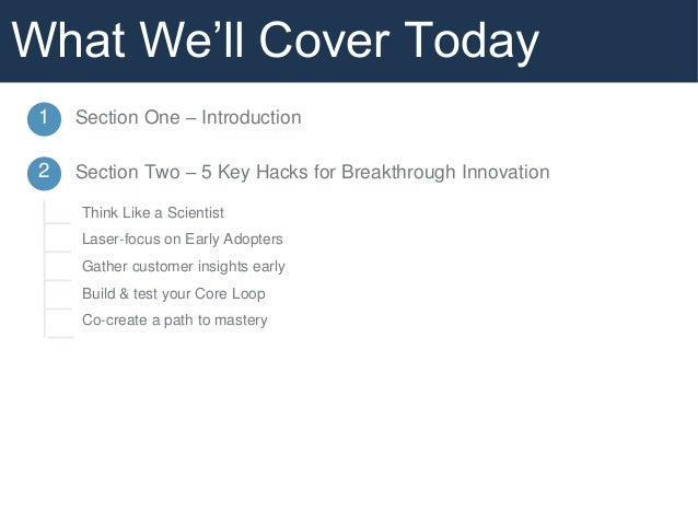 5 Key Hacks for Breakthrough Innovation  Slide 3