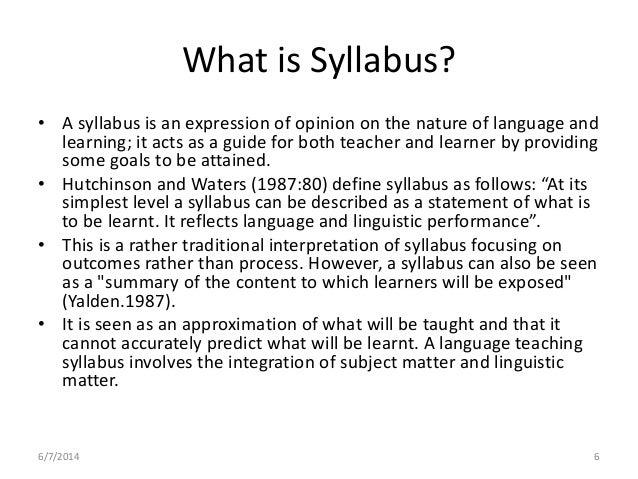 syllabus design for M Ed, M Phil Linguistics and Curriculum Designers