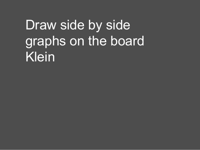 Draw side by side graphs on the board Klein