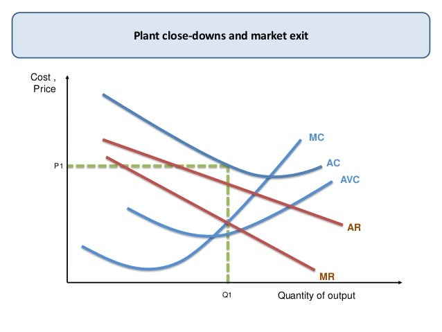 Cost ,PriceQuantity of outputPlant close-downs and market exitMCACAVCARMRQ1P1