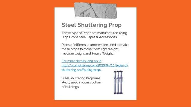 Telescopic Props Scaffolding Shuttering Shoring Props, Manufacturers Exporter in Chandigarh, India Slide 3