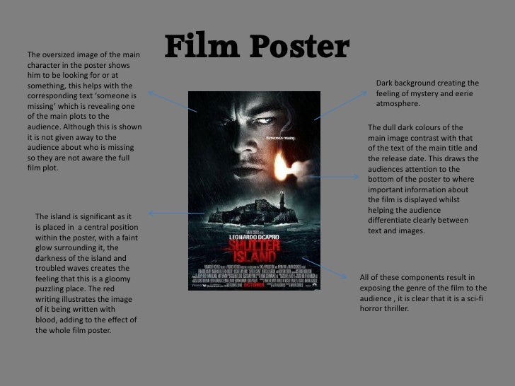 The oversized image of the maincharacter in the poster shows                                    Film Posterhim to be looki...