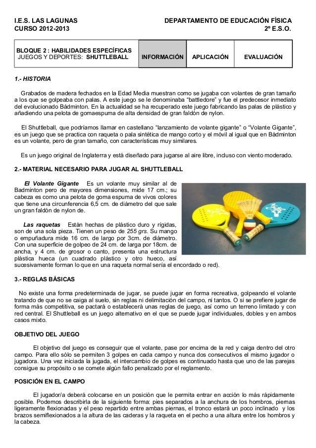 I.E.S. LAS LAGUNAS                                         DEPARTAMENTO DE EDUCACIÓN FÍSICACURSO 2012-2013                ...