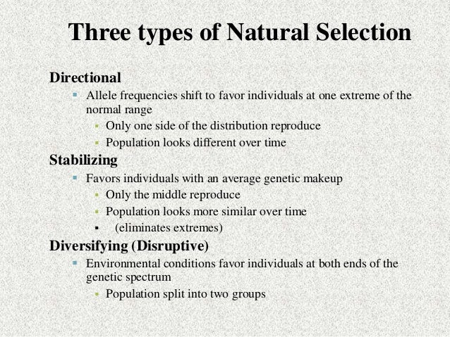 Darwin S Three Conditions For Natural Selection