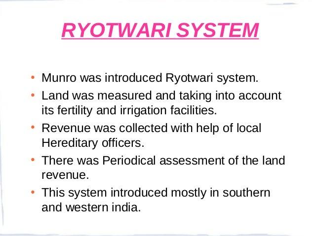 Ryotwari System