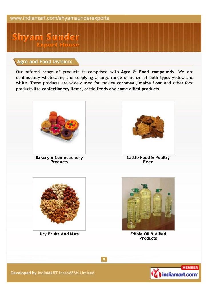 Shyam Sunder Export House, Kolkata, Food products  Slide 3