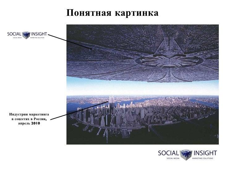 Понятная картинка Индустрия маркетинга в соцсетях в России, апрель 2010