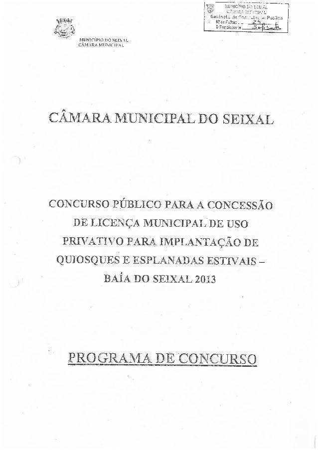 Cuncurso Público para a Concessão de Licença Municipal de Uso Privativo para Implantação de Quiosques e Esplanadas Estivai...