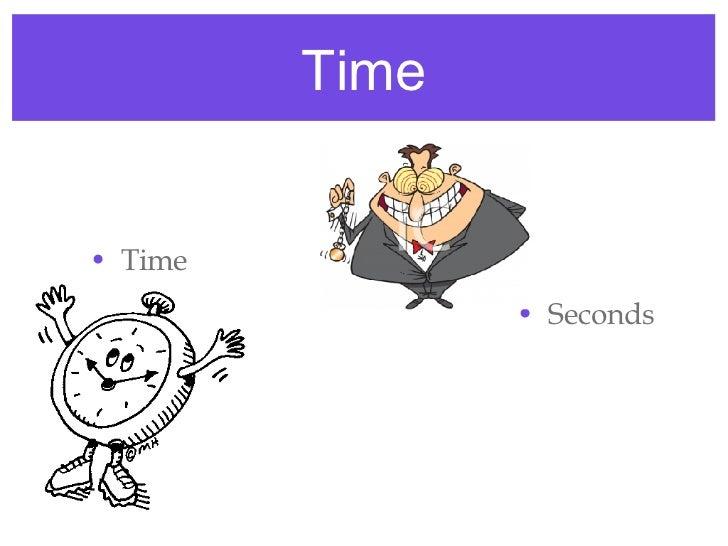 Time <ul><li>Time </li></ul><ul><li>Seconds </li></ul><ul><li>s </li></ul>