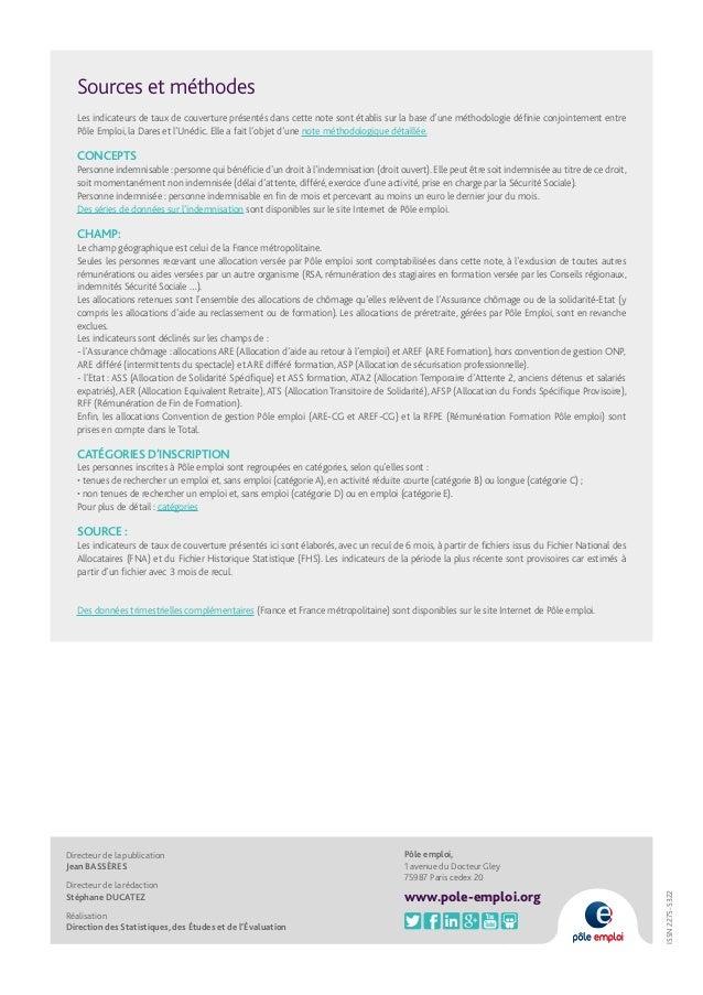 taux de couverture par l u0026 39 indemnisation des demandeurs d