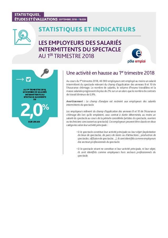 Les Employeurs Des Salaries Intermittents Du Spectacle Au 1er Trimest