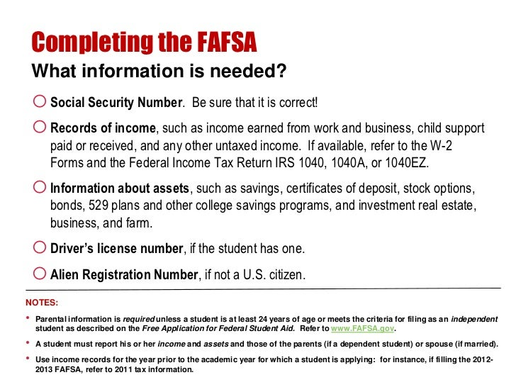 Unvested stock options fafsa