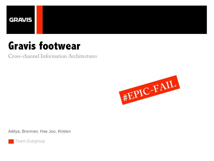 +Gravis footwearCross-channel Information Architectures                                               C-F AIL             ...