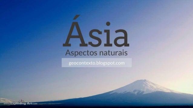 Asia_aspectos naturais