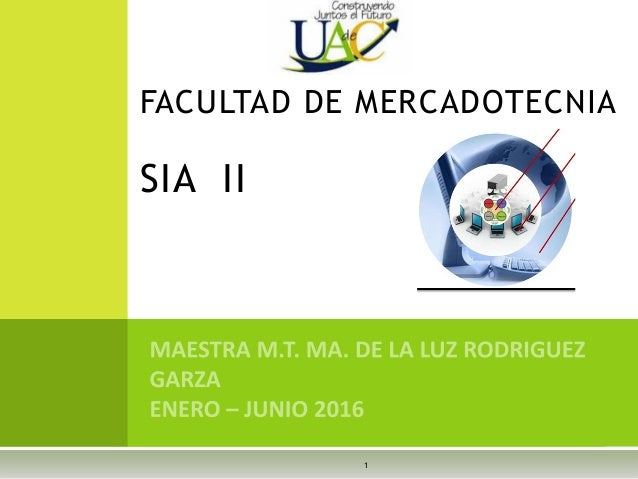 1 FACULTAD DE MERCADOTECNIA SIA II