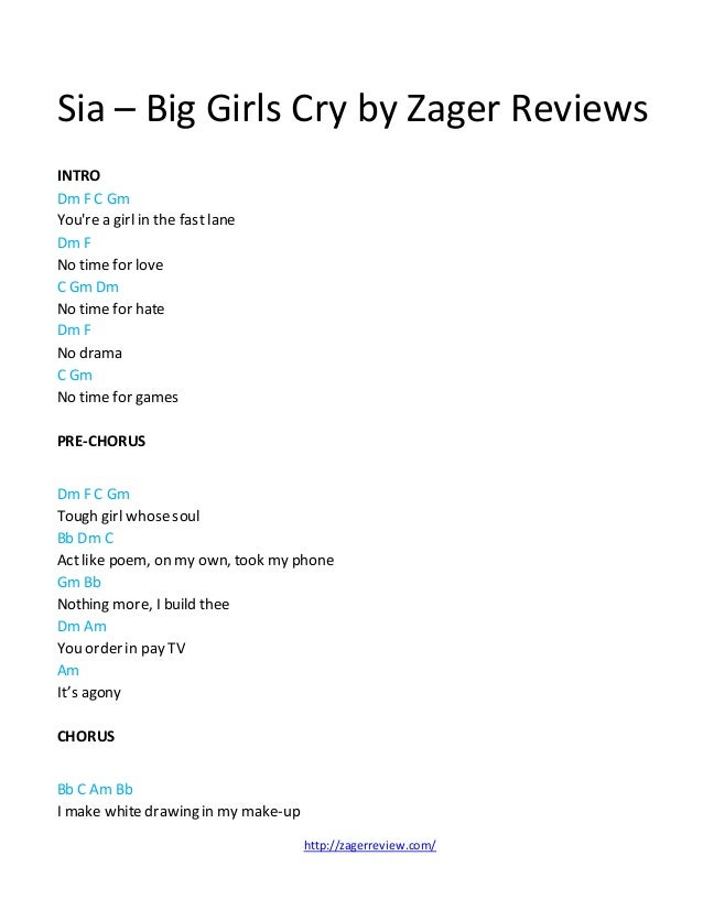 Sia Big Girls Cry Chords By Zager Reviews