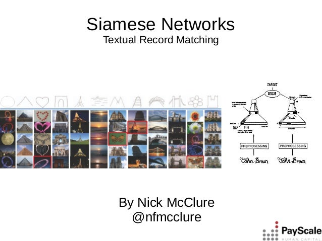 Siamese Networks Textual Record Matching By Nick McClure @nfmcclure