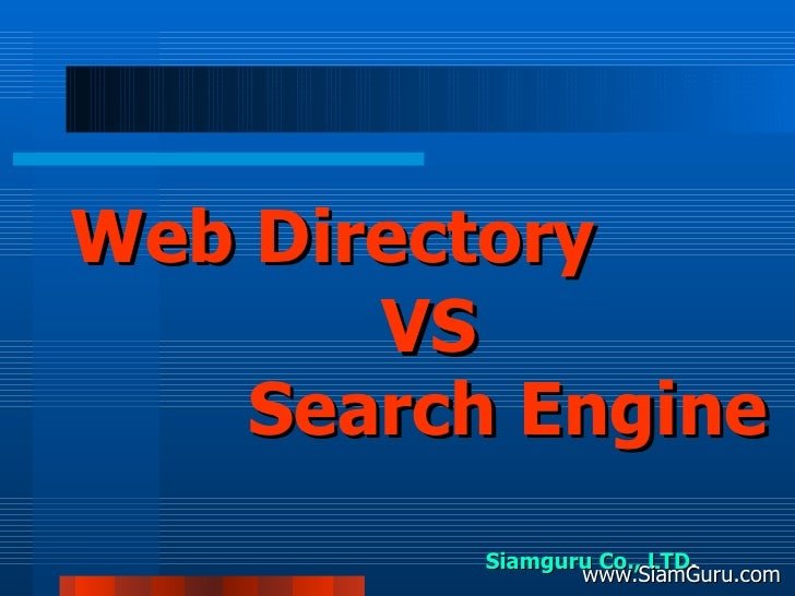 Siamguru Co., LTD . www.SiamGuru.com Web Directory Search Engine VS