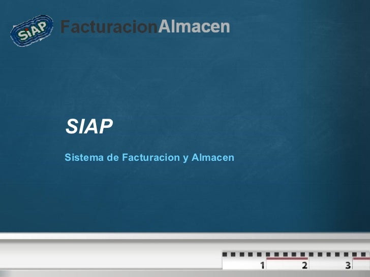 SIAP Sistema de Facturacion y Almacen