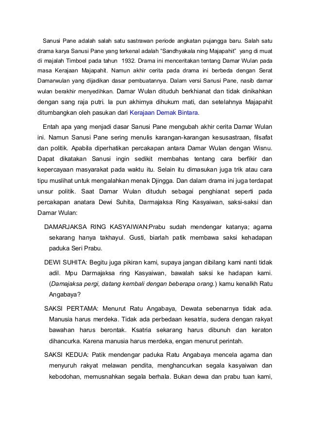 Analisis Teks Drama Sandyakala Ning Majapahit