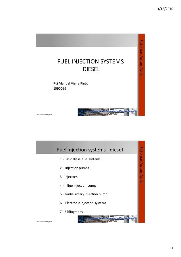 Fuel Injection Systems Diesel