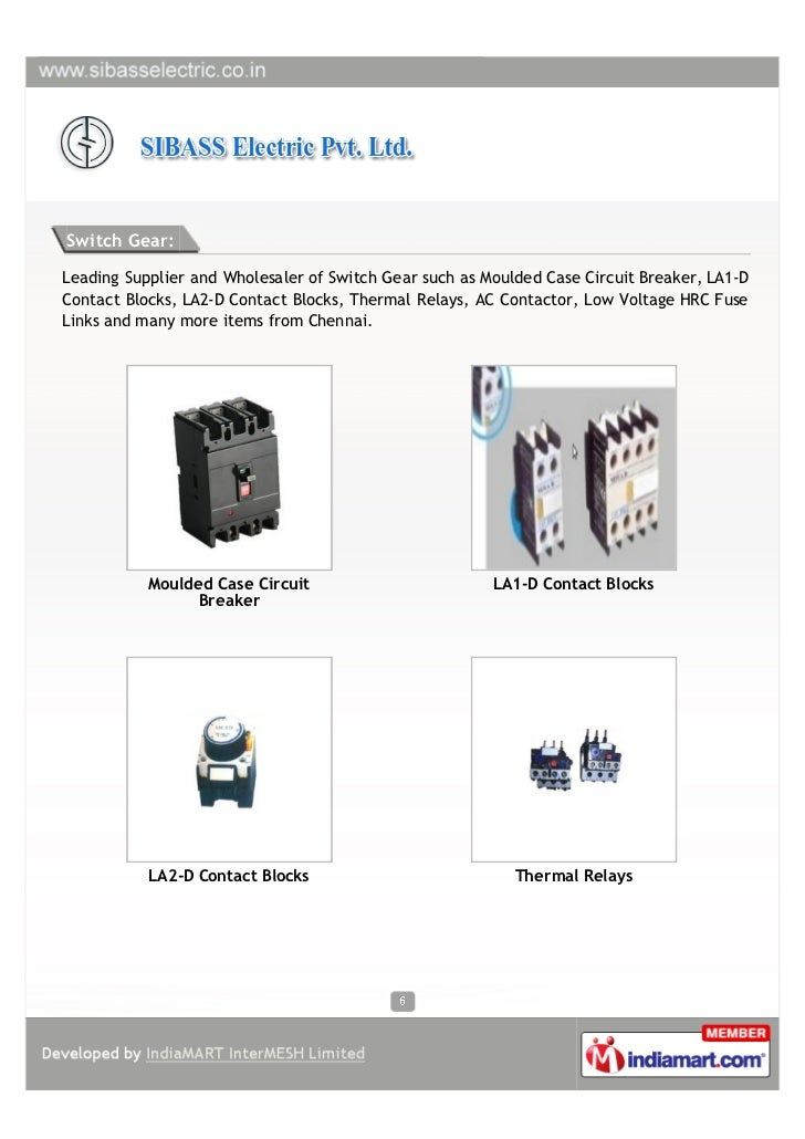 SIBASS Electric Private Limited, Chennai, Electrical Components