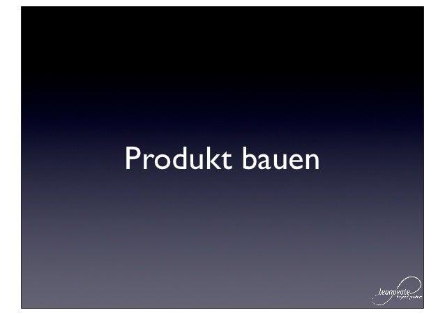 Produkt bauen