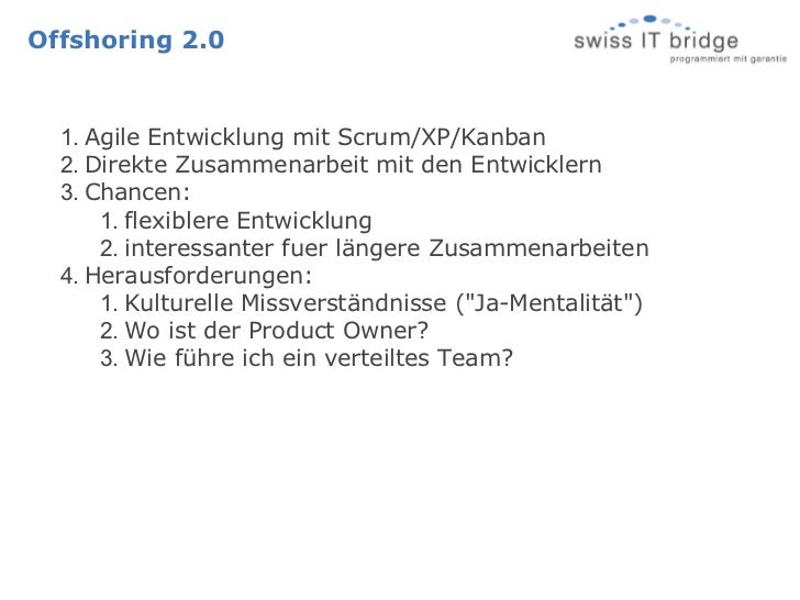 Kooperationsmodelle im Software-Offshoring Slide 3