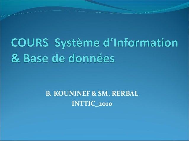 B. KOUNINEF & SM. RERBAL INTTIC_2010