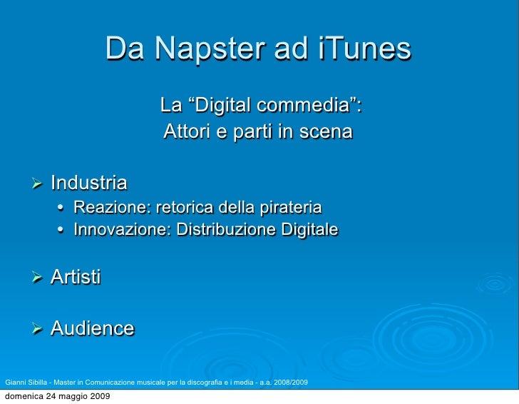 """Da Napster ad iTunes                                                 La """"Digital commedia"""":                               ..."""