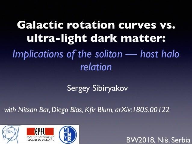Sergey Sibiryakov Galactic rotation curves vs. ultra-light dark matter: Implications of the soliton — host halo relation B...