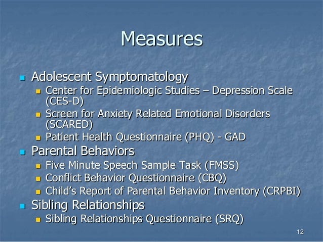 CESD-R: Center for Epidemiologic Studies Depression Scale ...