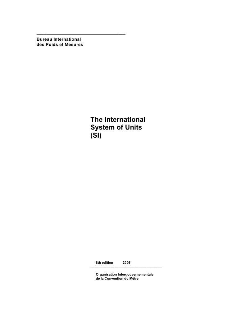 ——————————————————————————Bureau Internationaldes Poids et Mesures                       The International                ...