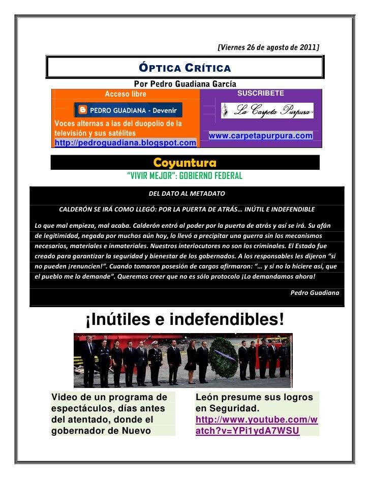 ÓPTICA CRÍTICA                       Acceso libre                                SUSCRIBETE      Voces alternas a las del ...