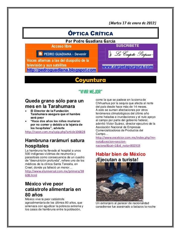 ÓPTICA CRÍTICA                    Acceso libre                                  SUSCRIBETE    Voces alternas a las del duo...