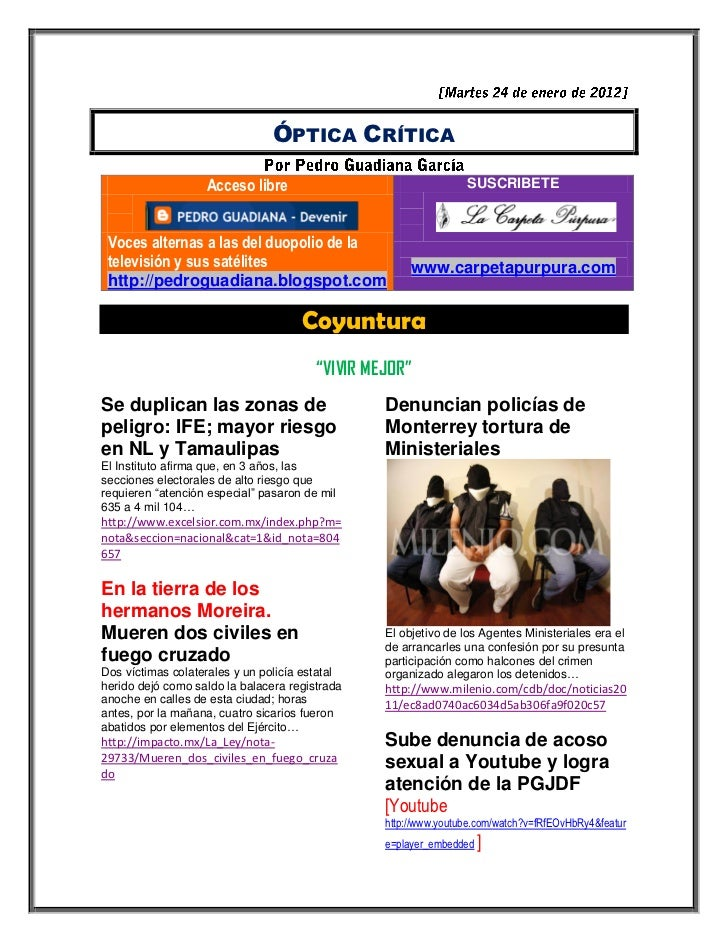 ÓPTICA CRÍTICA                   Acceso libre                                  SUSCRIBETE Voces alternas a las del duopoli...