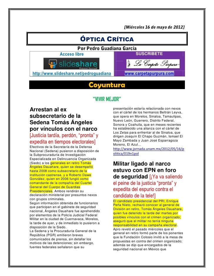 ÓPTICA CRÍTICA                   Acceso libre                                 SUSCRIBETE http://www.slideshare.net/pedrogu...