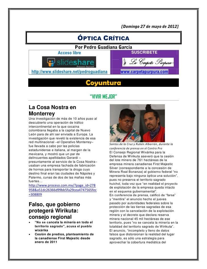 ÓPTICA CRÍTICA                   Acceso libre                                 SUSCRIBETE    http://www.slideshare.net/pedr...