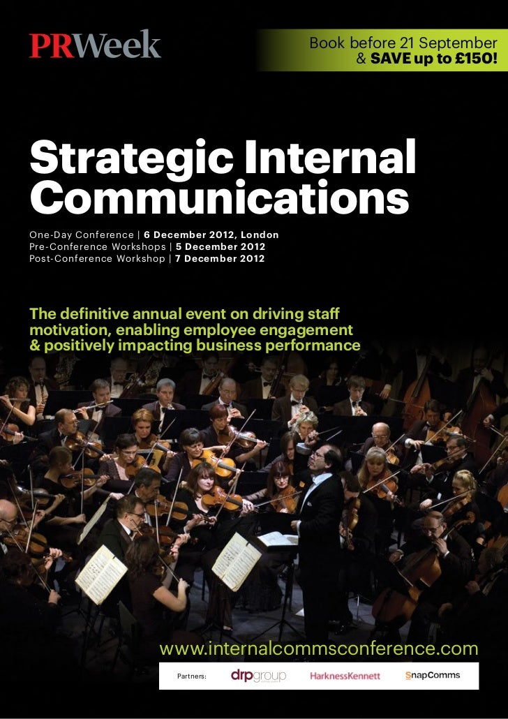 Book before 21 September                                                     & SAVE up to £150!Strategic InternalCommunica...