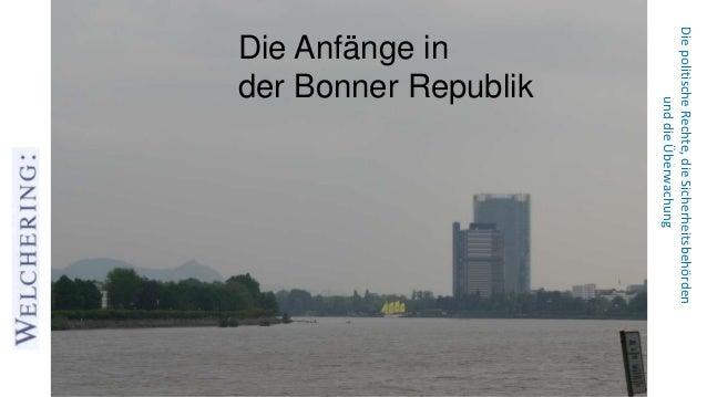 DiepolitischeRechte,dieSicherheitsbehörden unddieÜberwachung Die Anfänge in der Bonner Republik