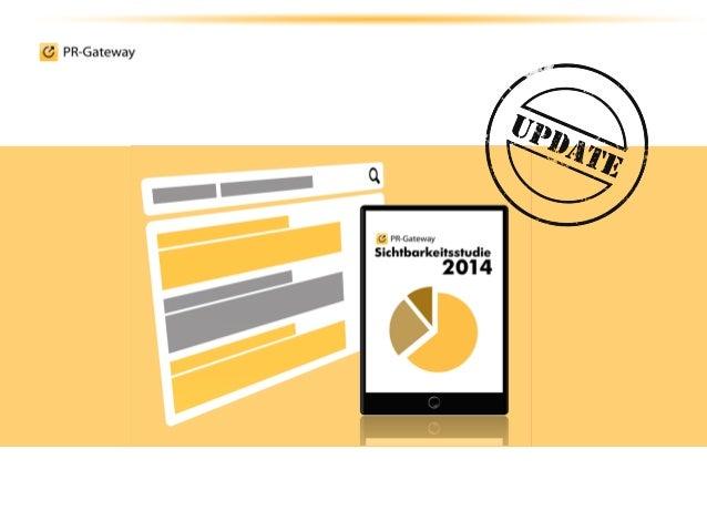 Die Sichtbarkeitsstudie im Überblick © ADENION GmbH 2014 Seite 2