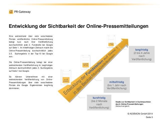 Sichtbar im Internet mit Online-Pressemitteilungen: Sichtbarkeitsstudie2014 Slide 3