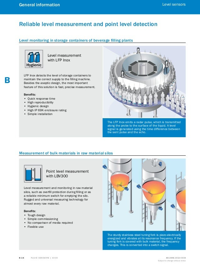 sick sensors sensor solutions catalogue bulk materials 18