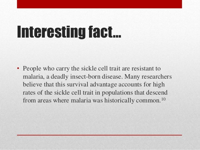 characteristics of the sickle cell disease Sickle-cell disease sickle-cell disease (scd) is a group of blood disorders typically inherited from a person's parents the most common type is known as sickle-cell anaemia (sca) it results in an abnormality in the oxygen-carrying protein haemoglobin (hemoglobin s) found in red blood cells.