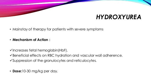 Hydroxyurea Indications For Use