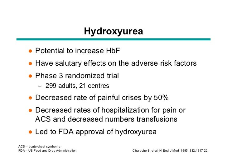 Hydroxyurea Side Effects In Sickle Cell Patients