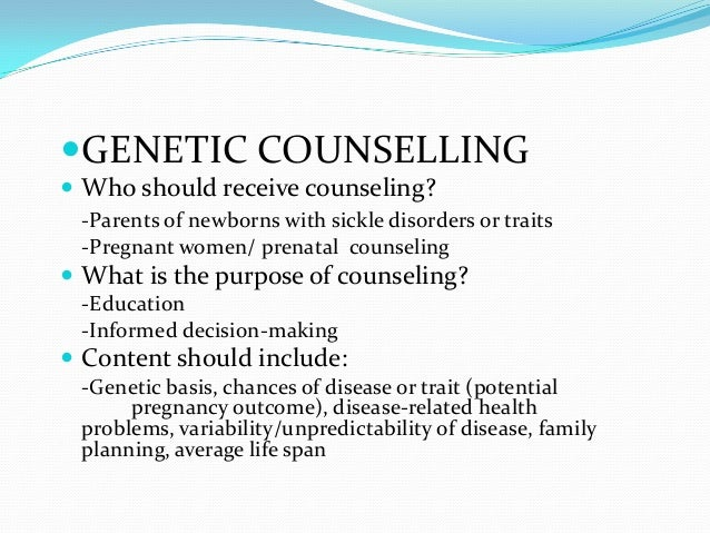 genetics disease counseling Read about genetic testing, which can be used to find out if a person is carrying a specific altered gene (genetic mutation) that causes a particular medical condition.