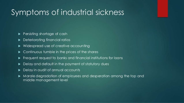 meaning of industrial sickness