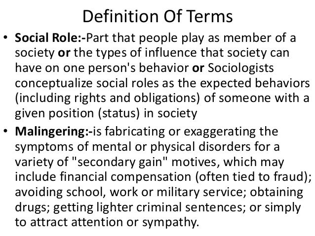 definition types and roles of socialization Others explore the role of society in creating and sustaining deviance through labeling those people viewed as abnormal toward a definition of social problems a objective reality to social problems eitzen et al types of social problems.